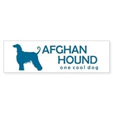 "Afghan Hound ""One Cool Dog"" Bumper Bumper Sticker"