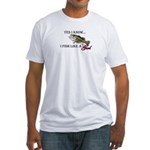 Fish like a girl Fitted T-Shirt