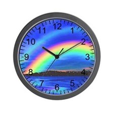 DOUBLE RAINBOW 2 Wall Clock