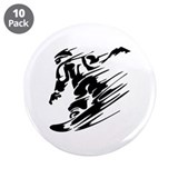 "Snowboarding 3.5"" Button (10 pack)"