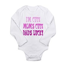 Im Cute Long Sleeve Infant Bodysuit