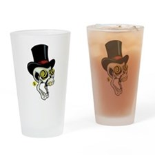 Top Hat Skully Drinking Glass