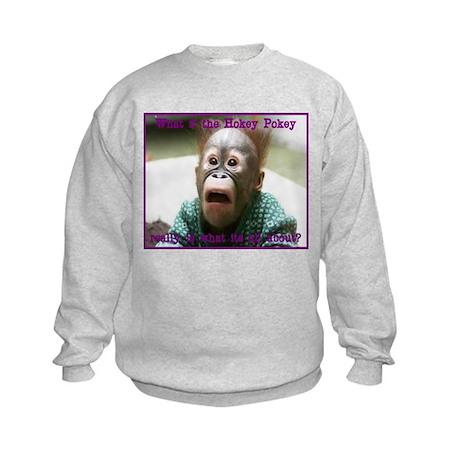 Hokey Pokey Orangutan Kids Sweatshirt