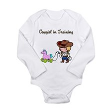 Funny Funny cowgirl Long Sleeve Infant Bodysuit