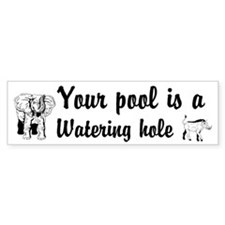 Your Pool a Watering hole Custom Bumper Sticker