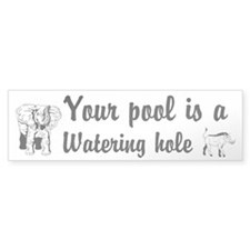 Your Pool a Watering hole Custom Stickers