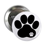 "Double Paw 2.25"" Button"