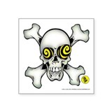 Skully and Crossbones Vinyl Sticker