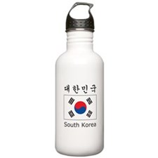 South Korea Flag Water Bottle