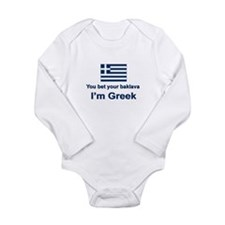 Cute Greek baklava Long Sleeve Infant Bodysuit