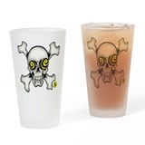 Skully and Crossbones Drinking Glass