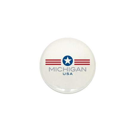Michigan-Star Stripes: Mini Button (100 pack)