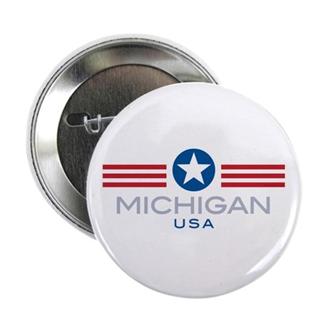 "Michigan-Star Stripes: 2.25"" Button (100 pack)"