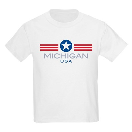 Michigan-Star Stripes: Kids T-Shirt