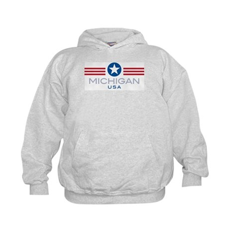 Michigan-Star Stripes: Kids Hoodie