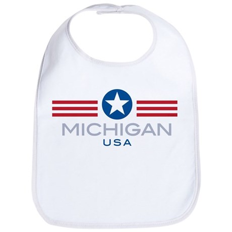 Michigan-Star Stripes: Bib