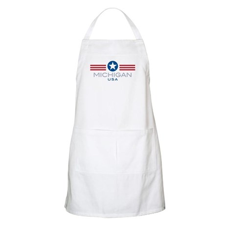 Michigan-Star Stripes: BBQ Apron