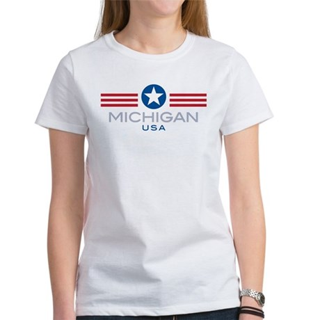 Michigan-Star Stripes: Women's T-Shirt