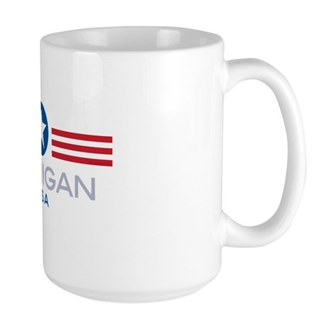 Michigan-Star Stripes: Large Mug