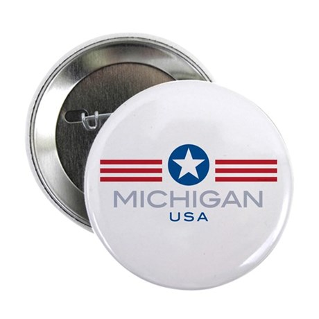 Michigan-Star Stripes: Button