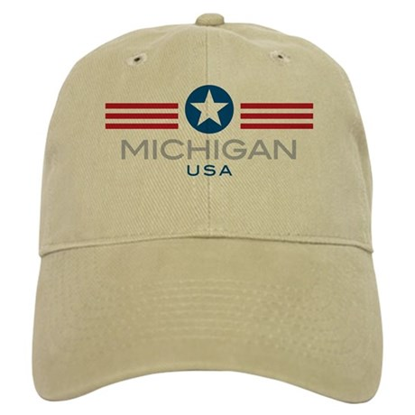 Michigan-Star Stripes: Cap