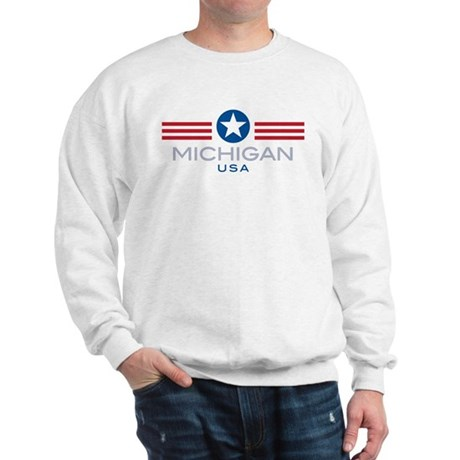 Michigan-Star Stripes: Sweatshirt