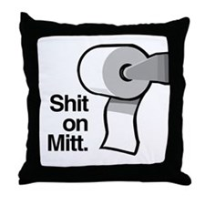 Shit on Mitt Throw Pillow