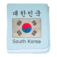 Vintage South Korea Flag baby blanket