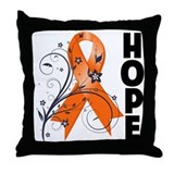 Flower Hope Ribbon RSD Throw Pillow