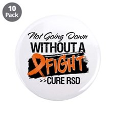 "Not Going Down Cure RSD 3.5"" Button (10 pack)"