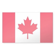 "Canadian flag sticker (5""x3"")"