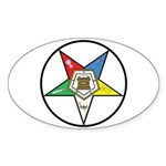Order of the Eastern Star Circle Oval Sticker