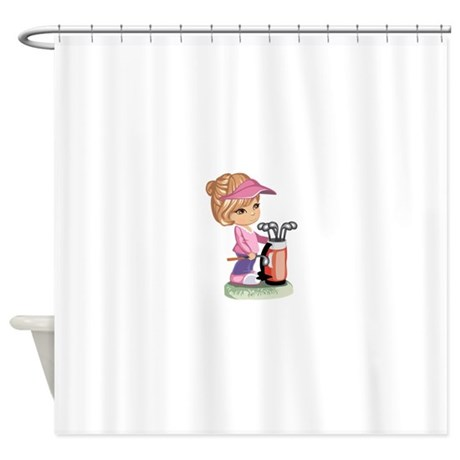 Golf Shower Curtain by GraphicDream