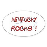 Kentucky Rocks ! Oval Decal