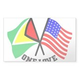 One Love - Guyana/American flag t-shirt Decal