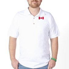 Canadian flag golf shirt