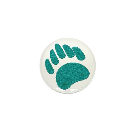 DIMPLED GREEN BEAR PAW Mini Button