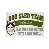 SLED DOG Rectangle Magnet