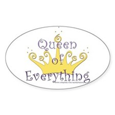 Queen of Everything Oval Decal