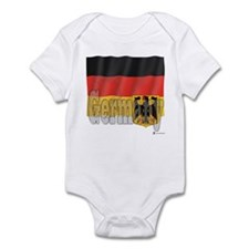 Silky Flag of Germany Infant Creeper