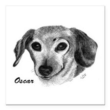 "OSCAR Square Car Magnet 3"" x 3"""