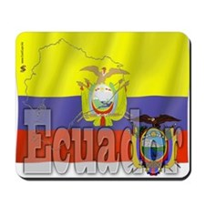 Silky Flag of Ecuador Mousepad