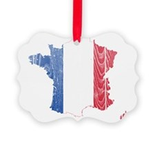France Flag And Map Ornament