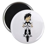 """Mod Girl on Scooter 2.25"""" Magnet (100 pack)"""
