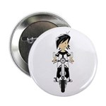 """Mod Girl on Scooter 2.25"""" Button (100 pack)"""