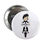 """Mod Girl on Scooter 2.25"""" Button"""