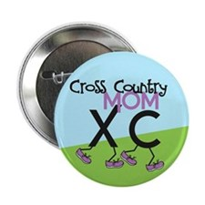 "Cross Country Mom 2.25"" Button (10 pack)"