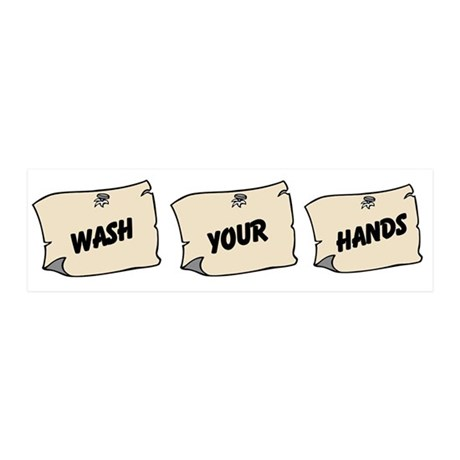 Wash Your Hands 21x7 Wall Peel
