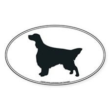 English Setter Silhouette Oval Decal