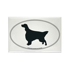 English Setter Silhouette Rectangle Magnet